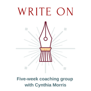 Writing coaching group Cynthia Morris
