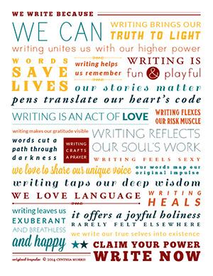Cynthia Morris Writers Manifesto